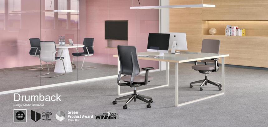 """Vier Auszeichnungen in Folge für viasit – Der Arbeitsplatzstuhl Drumback gewinnt auch den """"Good Design Award"""""""