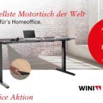 WINEA FLOW – Der schnellste Motortisch der Welt – jetzt auch fürs Homeoffice