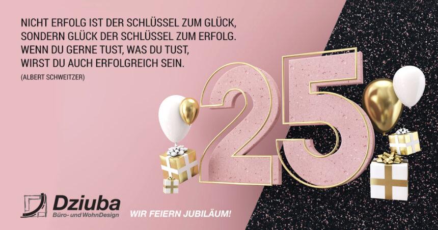 Wir feiern 25. Jubiläum!